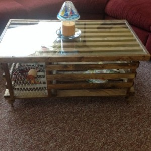 "Handmade ""Special Walnut"" Wooden Lobster Trap Coffee Table Made in Maine AND SC."