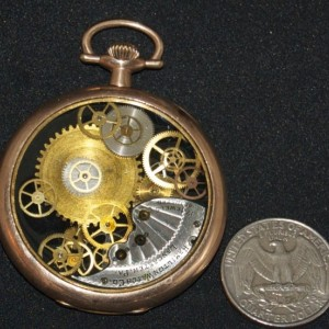 Steampunk Pocket Watch Rose Gold Pendant