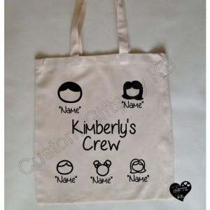 Custom family Tote Bag, canvas Tote Bag, Birthday Gift, Cute family custom tote bag, Customized Canvas Tote Bag,