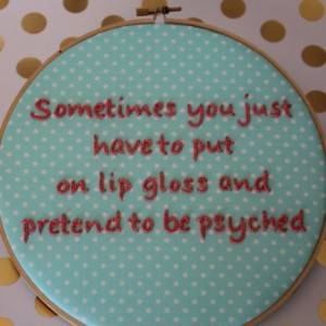 The Mindy Project, Motivational Quote from the Hilarious Mindy Kaling. Modern Embroidery Hoop Wall Hanging Decor. Ready to Ship!