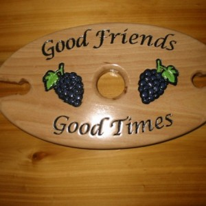 Wine Caddy - Good Friends, Good Times