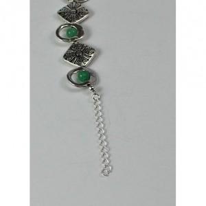 Green Aventurine and Silver Beaded Bracelet