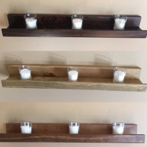 "22"" Rustic Wood Ledge / Picture / Book Shelves - Custom Finish Avail - Hand Made"
