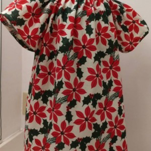 Christmas Poinsettia Peasant Dress