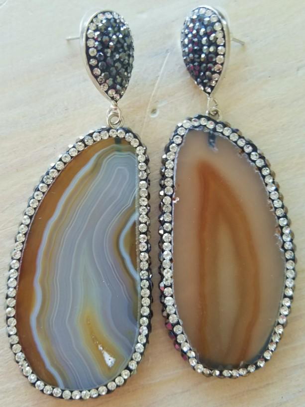 Natural Agate Druzy Crystal Devotionaluxe Earrings