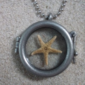 glass locket w. starfish