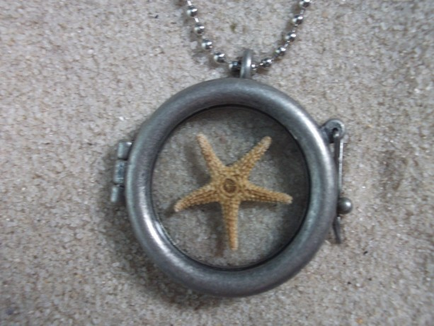 glass locket w. starfish