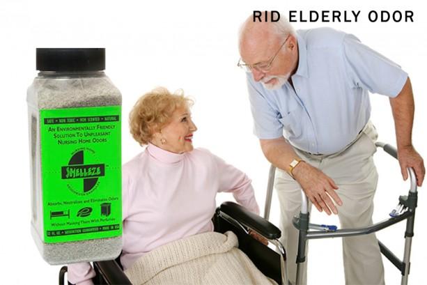 SMELLEZE Natural Elderly Odor Remover Deodorizer: 2 lb. Granules Destroy Sick Room Stench