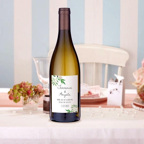 Wedding Wine Label, Wine Label Template, Watercolor Wreath, DIY Wedding, Instant Download, Summer Wedding, Bridesmaid Gift, Bridal Shower