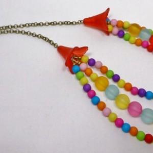 141 -Happy Necklace - Festive - Rainbow Colors