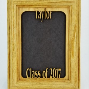 2016 2017 Graduation Personalized Name Centered Vertical Picture Frame Matte 5X7