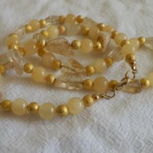 golden frosty necklace