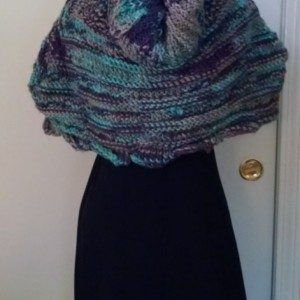 Knitted Snood, Custom Made Hooded Shawl