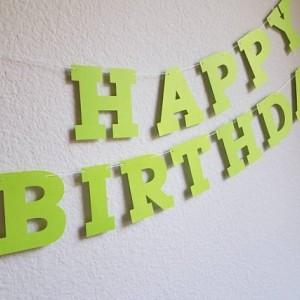 Lime Green Birthday Banner
