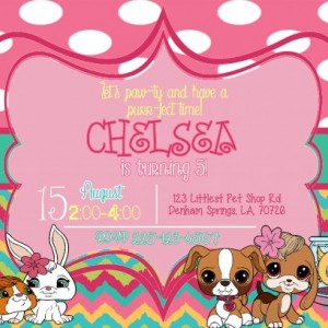 The Littlest Pet Shop Birthday Invitation