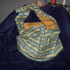 Olive Chevron Hobo bag