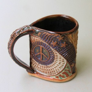 Hippie Bus Pottery Mug