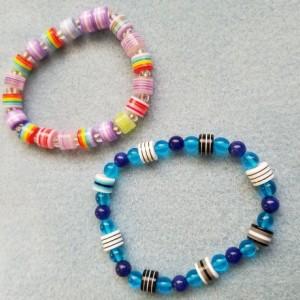 plastic bead bracelets