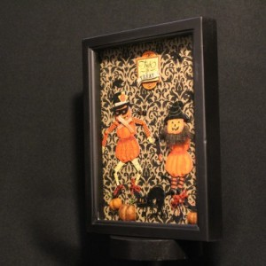 Dancing Pumpkins Diorama Shadowbox