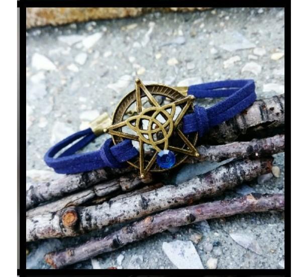 Bronze Pentacle Goddess Bracelet