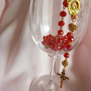 Red Rosary Beads