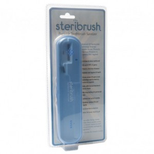 STERIBRUSH Portable Toothbrush Sanitizer: EZ Travel UV Germicidal Sterilizer