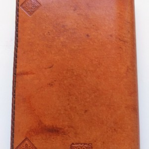 Simple, Classic Leather Notebook Refillable, Golden Brown