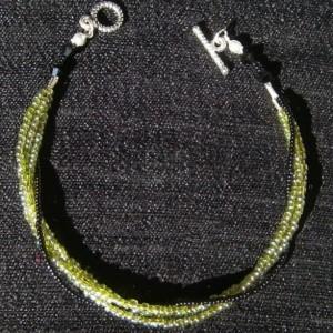Jade green 3 strand bracelet