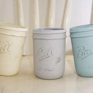 Hand Painted Set of 3 Mason Jars~Mason Jar Decor~Mason Jars