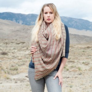 Woven Plaid Blanket Scarf