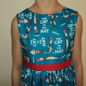 NEW Handmade Dr. Seuss Story Characters Pink Dress Custom Sz 12M-14Yrs