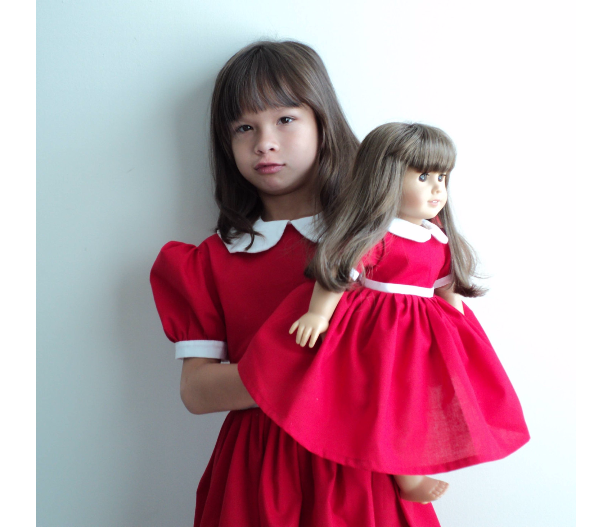 NEW Handmade Little Orphan Annie Red Dress 4 Halloween Costume /Stage Play Girl Sz 12M-14Yrs