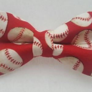 Baseballs pet bow tie