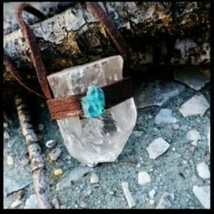 Quartz Apatite Pendant Necklace