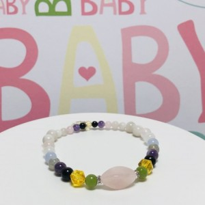 Pregnancy Set -  (4) Bracelets:   1st, 2nd + 3rd Trimester,  Labor and Delivery, Post Partum / New Mom
