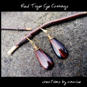 Red Tiger Eye Earrings
