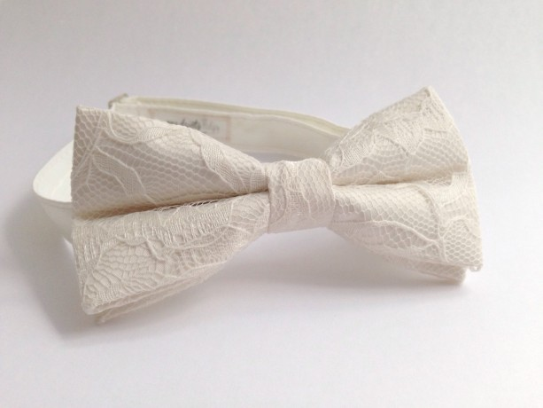 3bfd0bfd96d6 ... Ivory Lace Bow Tie - Wedding Bow Tie Groom Bow Tie Bridal bow Tie  Bridal party