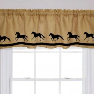 Horse Farm Barn Farmhouse Rustic Country Window Valance in Your Choice of Colors Custom Decor