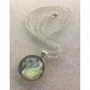 glass art,yin yang jewelry,seasons,glass necklace,hemisphere