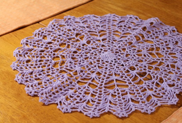 Spider Web Crocheted Doily
