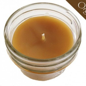 100% Raw Organic Beeswax Jar Candle w/ Lid 4oz