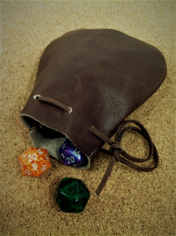 The Sidekick - Leather Drawstring Pouch