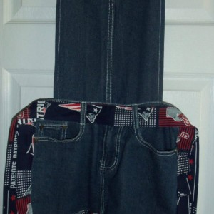Blue Jean apron - New England Patriots