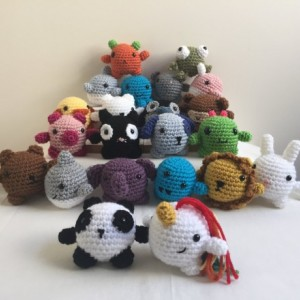 Mini Amigurumi Animals, animal set, crochet animals, under 25, stuffed animal, mini animal plush, mini, toddler toys, mini crochet animals,