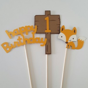 Fox Centerpiece, Woodland Creatures Centerpiece, Woodland Creatures Birthday, First Birthday Decoration