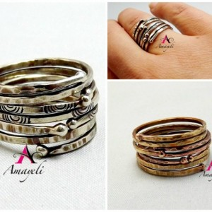 Silver stackable rings, stacking rings, silver rings, thin silver band, rings, stack rings, rings, jewelry