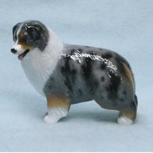 Ron Hevener Collectible Australian Shepherd Dog Figurine