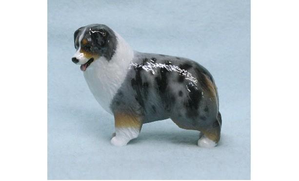 Hevener Collectible Australian Shepherd Dog Figurine