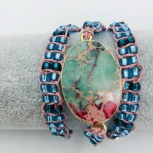 Jasper Macrame Wrap Bracelet