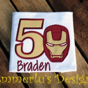 Iron Guy Superhero Birthday Shirt or Bodysuit